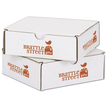 """White Mailers, 1 Color/4 Sides Exterior, 6 x 6 x 2"""""""