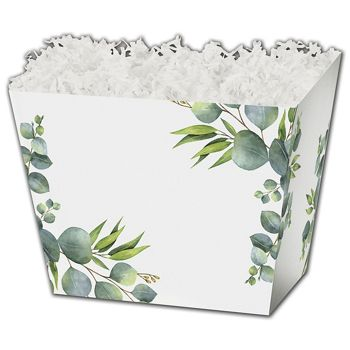 Eucalyptus Angled Basket Boxes, 6 3/4 x 4 1/2 x 5