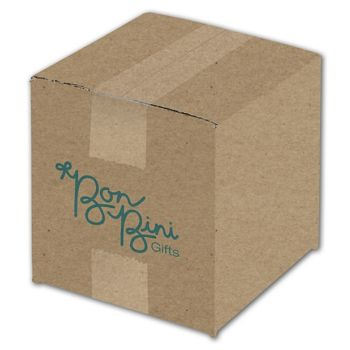 Kraft Printed Corrugated Boxes, 1 Color/1 Side, 6 x 6 x 6""