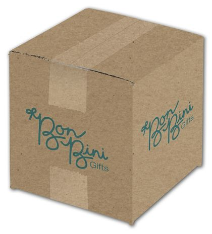 Kraft Printed Corrugated Boxes, 1 Color/2 Sides, 6x6x6""