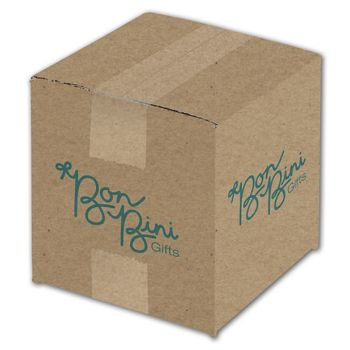 Kraft Printed Corrugated Boxes, 1 Color/4 Sides, 6x6x6
