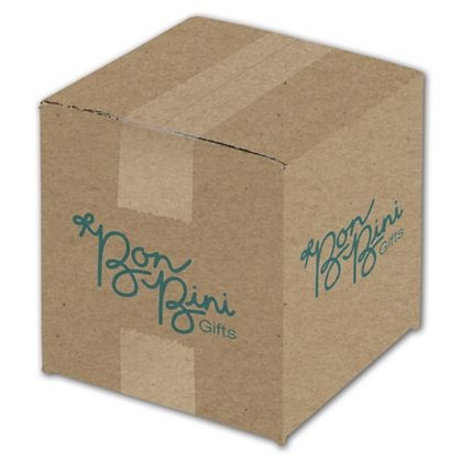 Kraft Printed Corrugated Boxes, 1 Color/4 Sides, 6x6x6""