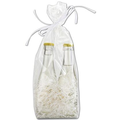 Clear Hard Bottom Polypropylene Bags, 4 x 2 1/2 x 13