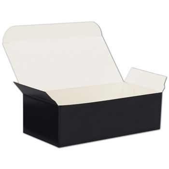Black One-Piece Candy Boxes, 5 1/2 x 2 3/4 x 1 3/4