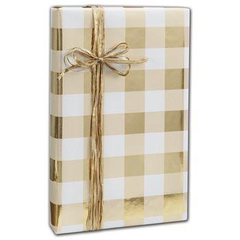 "Classy Plaid Gift Wrap, 24"" x 208'"