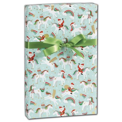 "Merry Unicorns Gift Wrap, 30"" x 208'"