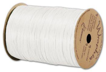 Matte Wraphia White Ribbon, 1/4