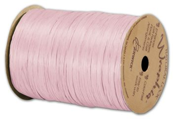 Matte Wraphia Light Pink Ribbon, 1/4