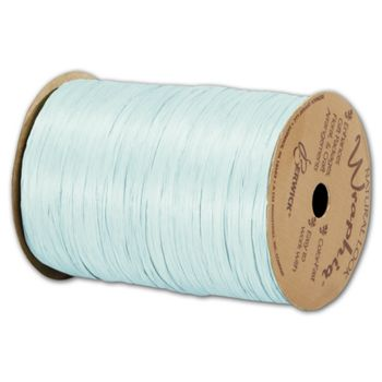 Matte Wraphia Light Blue Ribbon, 1/4