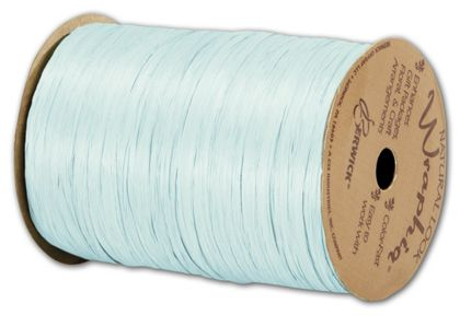 "Matte Wraphia Light Blue Ribbon, 1/4"" x 100 Yds"