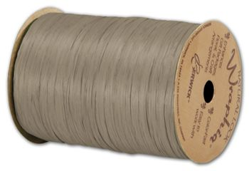 Matte Wraphia Taupe Ribbon, 1/4