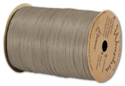 "Matte Wraphia Taupe Ribbon, 1/4"" x 100 Yds"