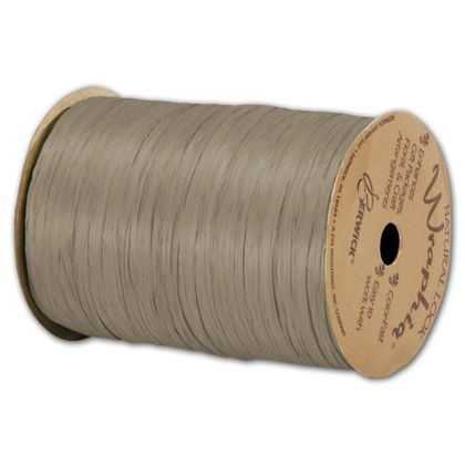 "Matte Wraphia Taupe Ribbon, 1/4"" x 100 Yds"