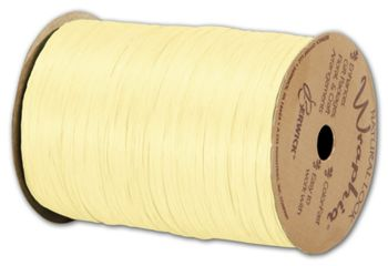 Matte Wraphia Yellow Ribbon, 1/4