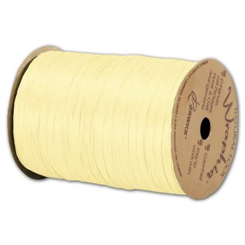 "Matte Wraphia Yellow Ribbon, 1/4"" x 100 Yds"