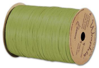 Matte Wraphia Jungle Green Ribbon, 1/4