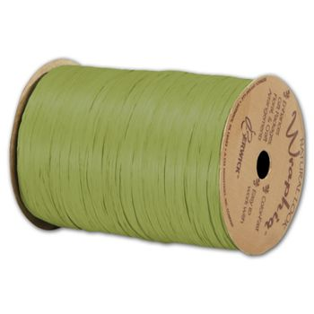 Matte Wraphia Jungle Green Ribbon, 1/4
