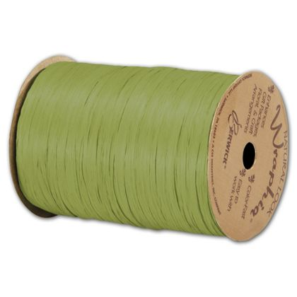 "Matte Wraphia Jungle Green Ribbon, 1/4"" x 100 Yds"