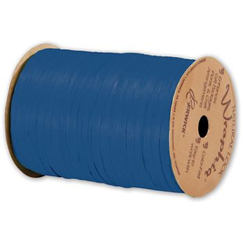 Matte Wraphia Cobalt Ribbon, 1/4