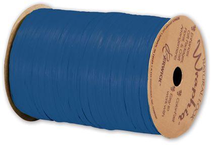 """Matte Wraphia Cobalt Ribbon, 1/4"""" x 100 Yds"""