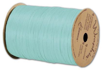 "Matte Wraphia Robin's Egg Blue Ribbon, 1/4"" x 100 Yds"