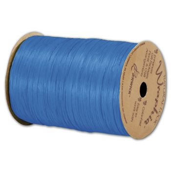 Matte Wraphia Royal Blue Ribbon, 1/4