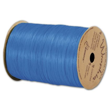 "Matte Wraphia Royal Blue Ribbon, 1/4"" x 100 Yds"