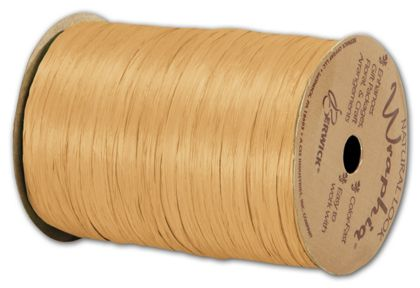 """Matte Wraphia Gold Ribbon, 1/4"""" x 100 Yds"""