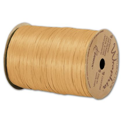 "Matte Wraphia Gold Ribbon, 1/4"" x 100 Yds"