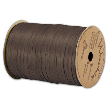 Matte Wraphia Chocolate Ribbon, 1/4