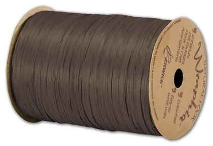 "Matte Wraphia Chocolate Ribbon, 1/4"" x 100 Yds"