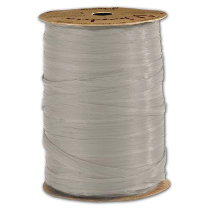 """Matte Wraphia Cool Grey Ribbon, 1/4"""" x 100 Yds"""