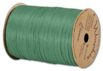 Matte Wraphia Emerald Ribbon, 1/4