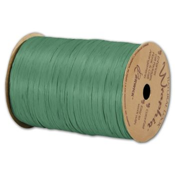 Matte Wraphia Emerald Ribbon, 1/4