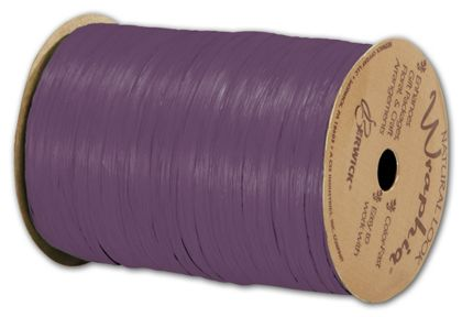 "Matte Wraphia Grape Ribbon, 1/4"" x 100 Yds"