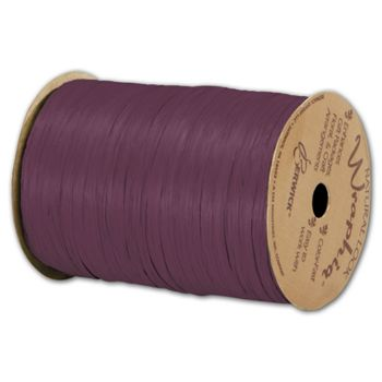 Matte Wraphia Wine Ribbon, 1/4