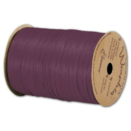 "Matte Wraphia Wine Ribbon, 1/4"" x 100 Yds"