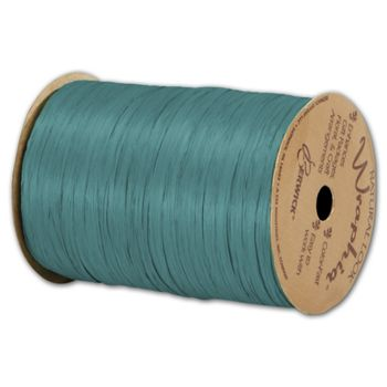 "Matte Wraphia Teal Ribbon, 1/4"" x 100 Yds"
