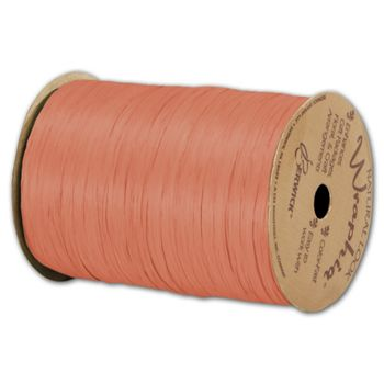 "Matte Wraphia Orange Ribbon, 1/4"" x 100 Yds"