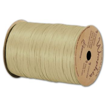 Matte Wraphia Sage Ribbon, 1/4