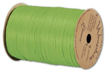 Matte Wraphia Apple Green Ribbon, 1/4