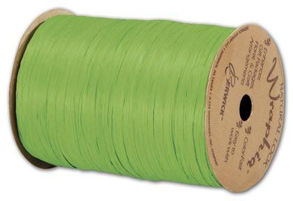 """Matte Wraphia Apple Green Ribbon, 1/4"""" x 100 Yds"""
