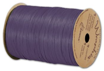 Matte Wraphia Plum Ribbon, 1/4