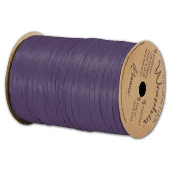 "Matte Wraphia Plum Ribbon, 1/4"" x 100 Yds"