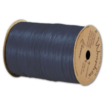 Matte Wraphia Navy Ribbon, 1/4