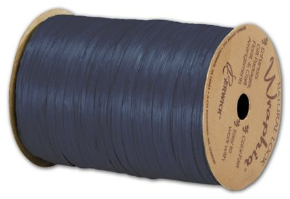 "Matte Wraphia Navy Ribbon, 1/4"" x 100 Yds"