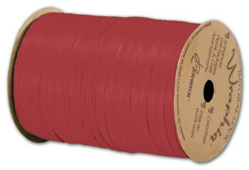 Matte Wraphia Imperial Red Ribbon, 1/4