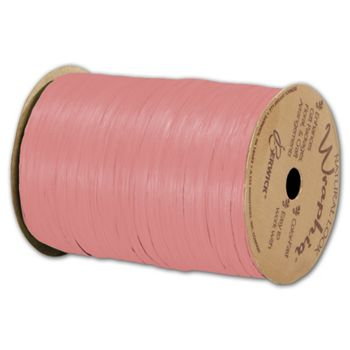 "Matte Wraphia Coral Ribbon, 1/4"" x 100 Yds"