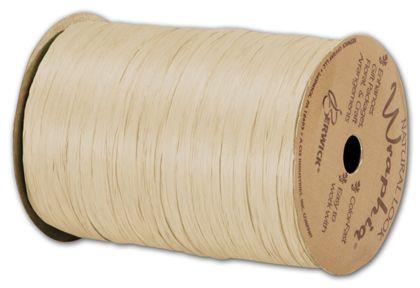 """Matte Wraphia Ivory Ribbon, 1/4"""" x 100 Yds"""