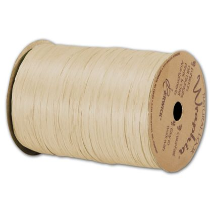 "Matte Wraphia Ivory Ribbon, 1/4"" x 100 Yds"